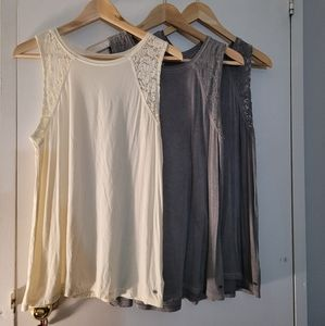 3 American Eagle Sleeveless Tops Size Small